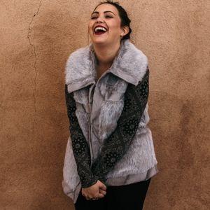 Faux Fur Silver Fox Vest